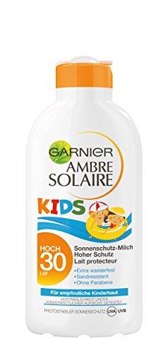 garnier ambre solaire sonnencreme kids sonnenschutz milch f r kinder extra wasserfest lsf 30. Black Bedroom Furniture Sets. Home Design Ideas