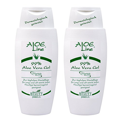 aloe vera gel 99 2x150ml dermatologisch getestet f r die pflege von haut haar iasc. Black Bedroom Furniture Sets. Home Design Ideas